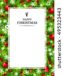 christmas banners with fir... | Shutterstock .eps vector #495323443