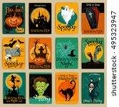 complete set of retro posters ...   Shutterstock .eps vector #495323947