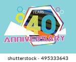40 years anniversary logo with...