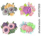 flower set | Shutterstock . vector #495337003