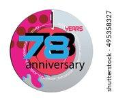 78 years anniversary logo with... | Shutterstock .eps vector #495358327