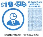 time manager icon with 1000... | Shutterstock .eps vector #495369523