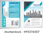 vector brochure flyer design... | Shutterstock .eps vector #495376507