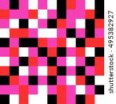pixel mosaic pattern seamless... | Shutterstock .eps vector #495382927