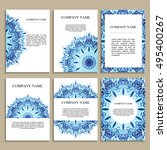 set of business cards. template ...   Shutterstock .eps vector #495400267