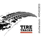 tire tracks. vector... | Shutterstock .eps vector #495402853