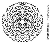 ethnic symmetrical mandala on... | Shutterstock . vector #495408673