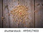 White Pepper Wooden Back Ground