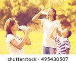 ordinary family of three... | Shutterstock . vector #495430507