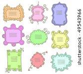 doodle frames | Shutterstock .eps vector #49543966