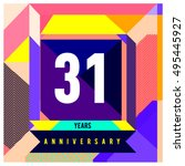31th years greeting card...   Shutterstock .eps vector #495445927