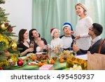 multigenerational family... | Shutterstock . vector #495450937