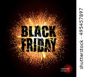black friday. sale  discounts.... | Shutterstock .eps vector #495457897
