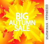 big autumn sale  abstract... | Shutterstock .eps vector #495460303