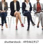 businesswomen teamwork together ... | Shutterstock . vector #495461917