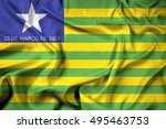waving flag of piaui state ... | Shutterstock . vector #495463753