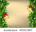 golden christmas and new year... | Shutterstock .eps vector #495517897