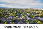 aerial view of residential...   Shutterstock . vector #495520477