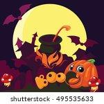 vector cartoon background...   Shutterstock .eps vector #495535633