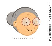 grandmother simple vector  | Shutterstock .eps vector #495542287