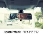 happy with my car choice.... | Shutterstock . vector #495544747
