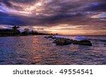 Jamaican Sunset And Rocks