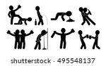 drunk people in different...   Shutterstock .eps vector #495548137