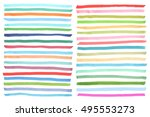 color highlight stripes ... | Shutterstock .eps vector #495553273