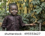 happy african boy finally gets... | Shutterstock . vector #495553627