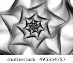 black and white fractal.... | Shutterstock . vector #495554737
