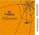 halloween greeting card | Shutterstock .eps vector #495565507