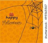 halloween greeting card | Shutterstock .eps vector #495565507