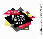 black friday sale colorful... | Shutterstock .eps vector #495574597