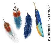 illustration of feather  on... | Shutterstock . vector #495578977