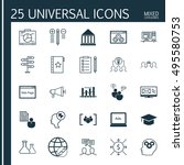 set of 25 universal icons on... | Shutterstock .eps vector #495580753