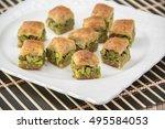 arabic desserts baklava | Shutterstock . vector #495584053