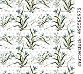 seamless floral pattern ... | Shutterstock . vector #495585973