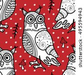 vector seamless pattern with... | Shutterstock .eps vector #495594943