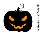 Halloween Pumpkin Icon Isolate...