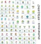 mega collection of letter logo  ... | Shutterstock .eps vector #495614947