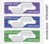 web banner design. set of... | Shutterstock .eps vector #495634087