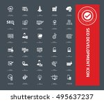 seo development icon set vector | Shutterstock .eps vector #495637237