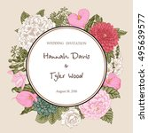 bouquet of flowers. wedding...   Shutterstock .eps vector #495639577