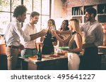 celebration with nearest... | Shutterstock . vector #495641227