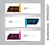 vector design banner background. | Shutterstock .eps vector #495642517