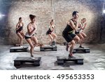Small photo of Group of people on aerobic training