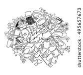 sketch cartoon illustration... | Shutterstock .eps vector #495657673