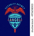 security agency guarding angel.... | Shutterstock .eps vector #495658003