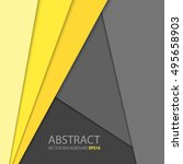 illustration of unusual modern... | Shutterstock .eps vector #495658903