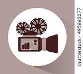 videocamera and movie design | Shutterstock .eps vector #495663277
